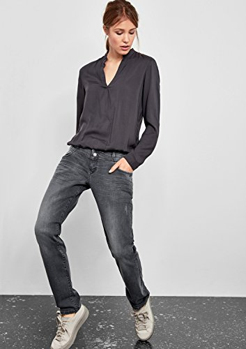 Q/S designed by - s.Oliver Damen Boyfriend Jeans Black Denim