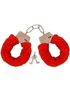 Shatchi 12543-RED-CUFF - Disfraz de despedida de soltera para despedida de soltera, color rojo