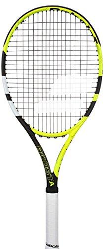 Babolat Boost aero Strung Tennisschläger, Herren 3 Mehrfarbig (Gelb / Schwarz / Weiß) -
