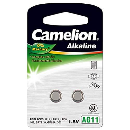 Camelion Knopfzelle AG11 2er Blister, Alkaline, 1,5V