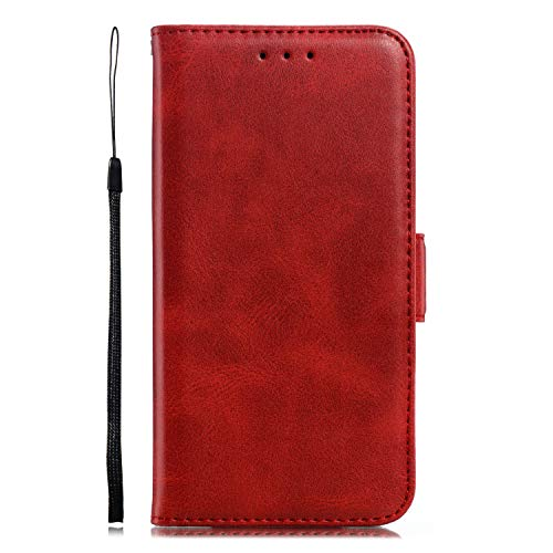 Miagon für Xiaomi Redmi 5 Plus Lederhülle,Luxuriöse Stilvoll Lanyard Premium Pu Leder Kartenfach Magnetverschluss Flip Brieftasche Etui Schutzhülle mit Standfunktion