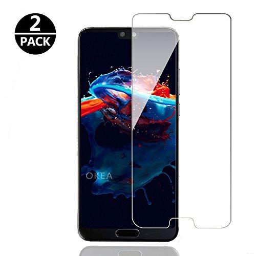 OKEA Huawei P20 Panzerglas Schutzfolie, Premium HD Glasfolie 9H Displayschutzfolie für Huawei P20 Folie[Bubble-frei] [Anti Fingerabdruck]