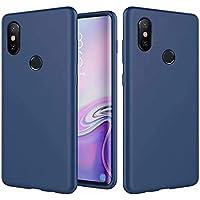 CRABOT Compatible con Huawei P Smart Z 2019/Y9 Prime 2019 Silicona Líquida Caso Cubierta de Goma Anti-caída Resistente a Los Arañazos Carcasa del Teléfono+1*(Protector de Pantalla Gratuito)-Azul