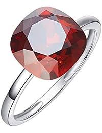 0b2a097b1b66 hlllh Europa y los Estados Unidos Anillo de Plata esterlina S925  Transparente con joyería de Cristal