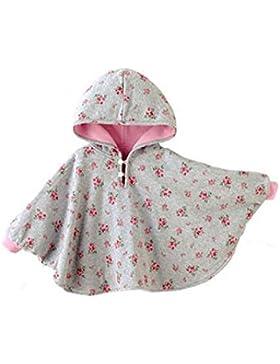 TININNA Baby Kinder Kleinkind Winter Kapuze Cape Mantel Umhang Poncho Mädchen Jungen rosa 0-12 Monate