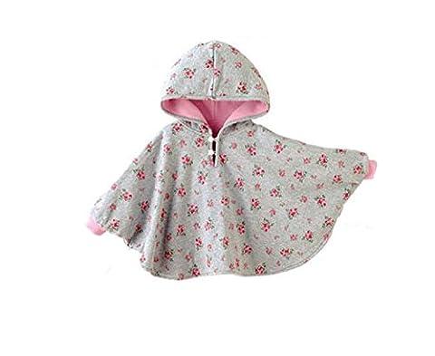 TININNA Baby Kinder Kleinkind Winter Kapuze Cape Mantel Umhang Poncho Mädchen Jungen rosa 0-12