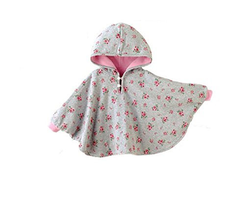 TININNA Baby Kinder Kleinkind Winter Kapuze Cape Mantel Umhang Poncho Mädchen Jungen rosa 1-2 Jahre