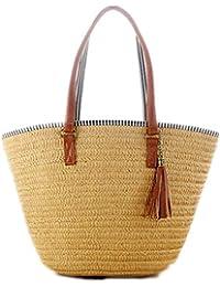 23ee1c4efddcd Limotai Handbag Sommer Stil Strandtasche Damen Stroh Quaste Schultertasche  Handtasche Hochwertige Damen Freizeit Reisetasche