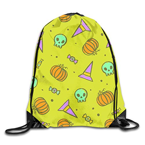 Bags Halloween Skulls Pumpkins Hats Sport Athletic Gym Sackpack for Men Women ()