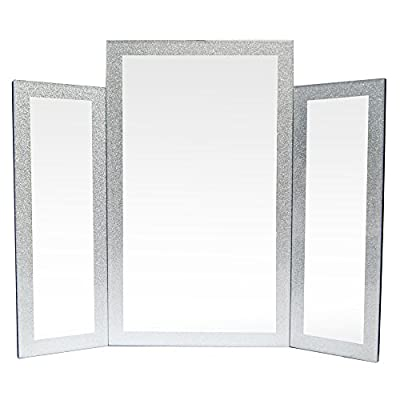 Glitter Frame 3 Piece Freestanding Bedroom Dressing Table Make-up Mirror