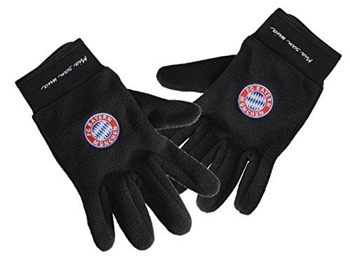 FC Bayern München Trainings-Handschuhe, Feldspieler-Handschuhe schwarz, L - Bayern München Training