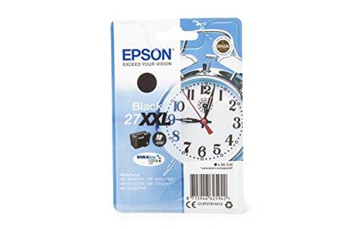 Epson 27xxl–cartuccia originale, inchiostronero, per workforce wf-3620dwf, wf-3640dtwf, wf, misura xxl