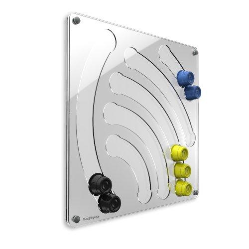 Plexidisplays 1105003 Wand-Kapselhalter für Cafissimo-Kapseln, Design Wasserfall, 41 x 40 cm,...