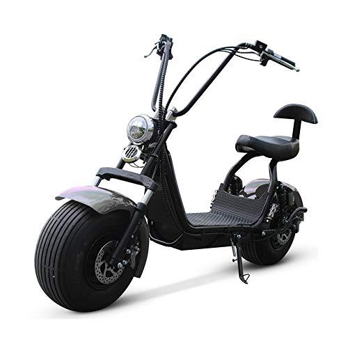 LMJ-XC Harley Elektroauto Elektro Skateboard Lithiumbatterie Harley Elektro Walker 60V / 20AH 1500W Abnehmbarer Lithium Akku,Black (1500w Elektro-roller)