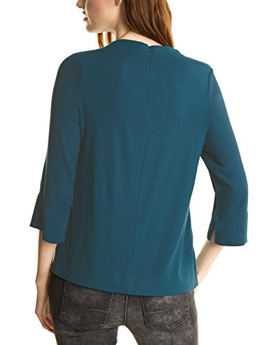 Street One Mat-Mix Turtle Neck, T-Shirt Manches Longues Femme Türkis (Pacific Blue 10991)