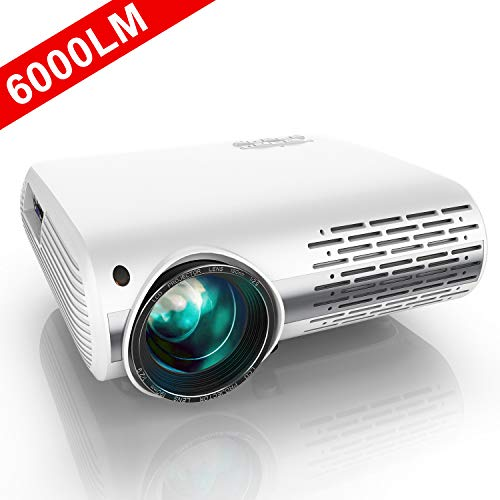 Vidéoprojecteur, YABER 6000 Lumens Video Projecteur Full HD...