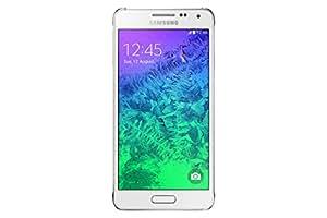 Samsung Galaxy Alpha Smartphone débloqué 4G (Ecran : 4.7 pouces - 32 Go - Android 4.4 KitKat) Blanc (import Europe)
