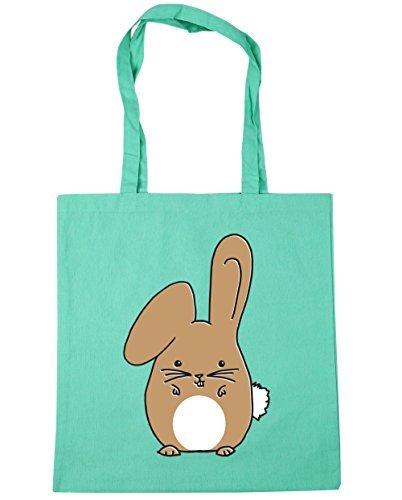 hippowarehouse-beige-bunny-tote-shopping-gym-beach-bag-42cm-x38cm-10-litres