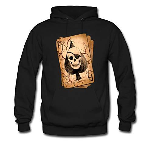 Lu JinQuan Skeleton Poker Logo for Man Hoody