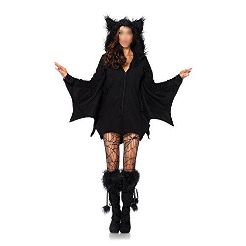 Cosplay Weibliche Uk Kostüme (Halloween Kostüme Königin Kapuzenjacke Kleid Weibliche Hexe Schwarz Leistung Cosplay Uniformen)