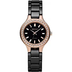 DKNY Ladies Watch NY4981 with Black Dial and Black Ceramic Strap