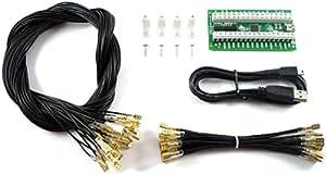 Ultimarc I-PAC 2 Tastatur-Kodierer mit USB-Kabel und Verkabelungsset, Version 2015