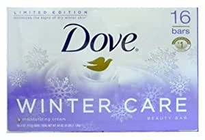 Limited Edition Dove Winter Care Beauty Bars with Moisturizing Cream 16 Bars