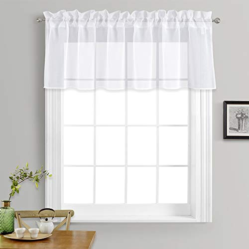 Duo Sheer (NICETOWN One Pair Solide Tülle Verdunklungsvorhänge (Regular) Modern L18 Semi Sheer Curtains)