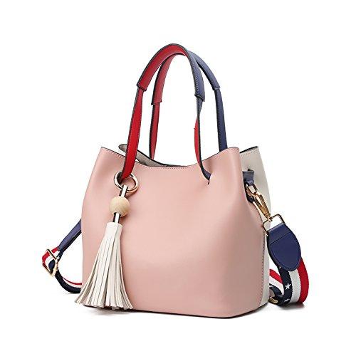 Tisdaini Damen Handtasche Mode Eimer Tasche schlagen die Schulter Farbe Schulter Messenger Tasche Farbe Geldbörse