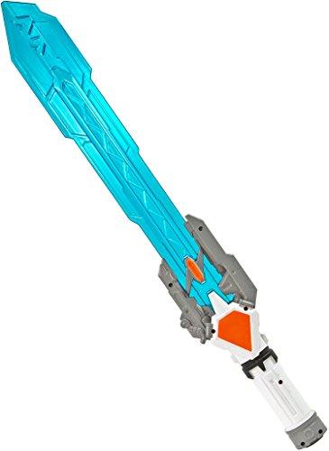 (Nick and Ben Licht-Schwert LED Kinder Kostüm Karneval Fasching Halloween Spielzeug Kunststoff Blau Krieger 60cm)