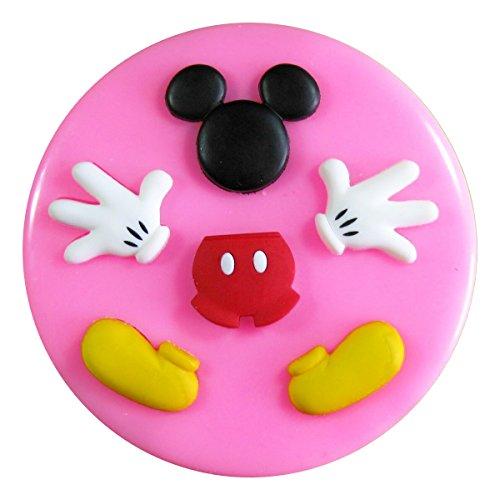 Mickey Mouse (Kopf Körper Hände und Füße) Silikonform Form für Kuchen dekorieren KUCHEN, Cupcake Topper Zuckerguss Sugarcraft von Fairie, Blessings (Mickey Push-pins)