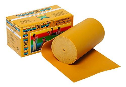 Trainingsband / Gymnastikband - Spenderbox, Länge 5,5 m, Cando® -gold (ultra schwer)