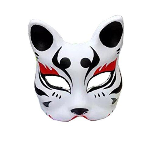 Maske für Erwachsene Karneval Saw Fasching Maske Kostüme Geist Fuchs Maske (Mehrfarbig B)