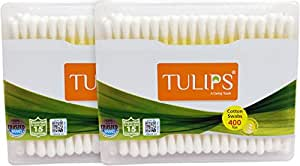 Tulips Cotton Buds 200 Sticks Pack of 2