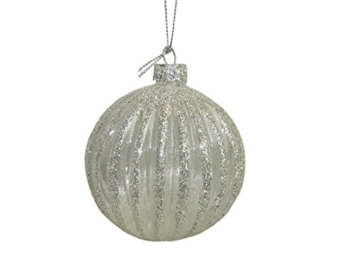 VISCIO Trading Haus & Christmas Kugel, Silber, 10x 10x 11.5cm (Schneekugel-display Weihnachten)