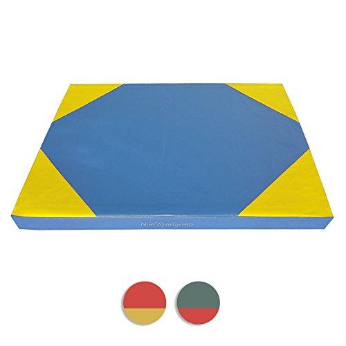 NiroSport Weichbodenmatte 100 x 70 x 8 cm Turnmatte Gymnastikmatte Fitnessmatte Sportmatte Trainingsmatte Bodenmatte Schutzmatte Übungsmatte wasserdicht Test