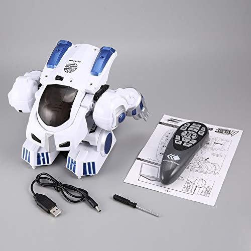 mimagogy K4 Intelligent Fingerabdruck Deformation Polizei RC Roboter Walking Kind Spielzeug-Geschenk - Walking-spielzeug-roboter