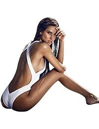 Bañadores Deportivas Mujer, Xinan Bikini Rellenado Push-up Mono Traje De Baño Backless Jumpsuit