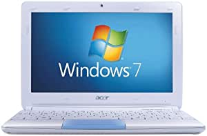 Acer Aspire One Happy 2 10.1 inch Netbook (Intel Atom N455 Processor, 1GB RAM, 250GB HDD, 4 Hours Battery Life, Windows 7 Starter & Android) - Blue