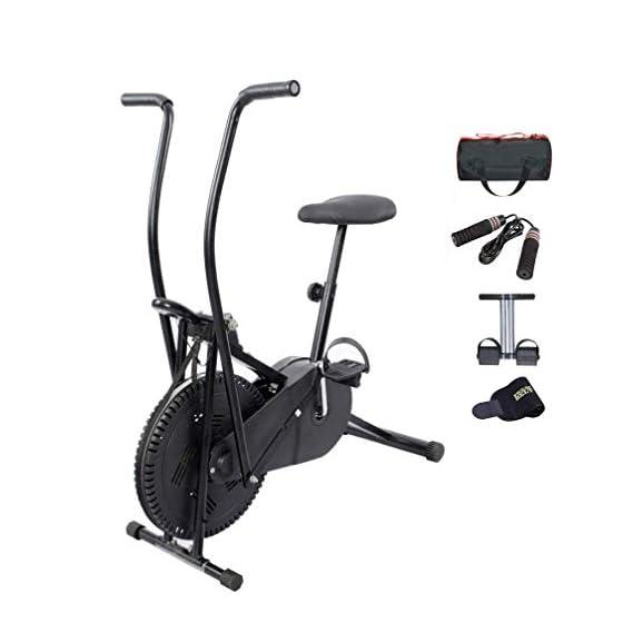 Lifeline Exercise Bike with Gym Bag, Tummy Trimmer, Sweat Belt & Skipping Rope