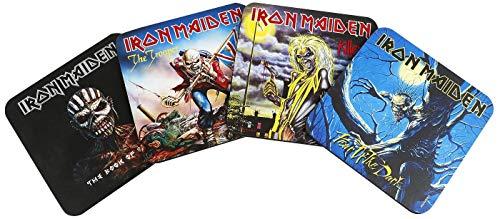 Iron Maiden - Juego de 4 - Posavasos - Coaster - Diseño original con licencia
