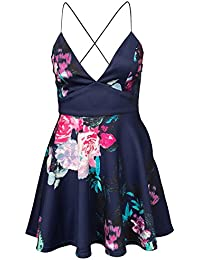 Ax Paris Damen Floral Strappy Kleid