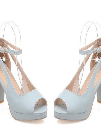 LFNLYX Chaussures Femme-Mariage / Bureau & Travail / Habillé / Décontracté / Soirée & Evénement-Bleu / Rose / Blanc-Gros Talon-Talons / Blue
