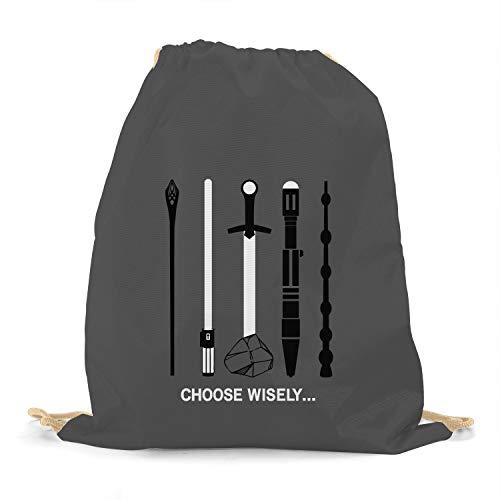 Planet Nerd Choose Wisely - Turnbeutel, grau