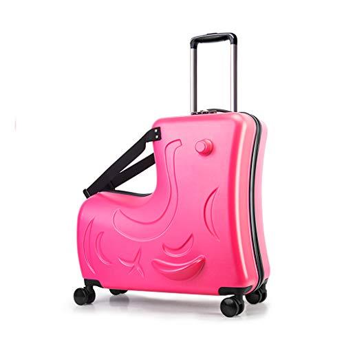 Trolley THBEIBEI Ride-On Suitcase Suitcase Password a Tre cifre Universal Wheel Doppia Cerniera con braccioli Multifunzione (Colore : C, Dimensioni : 59 * 25 * 58CM)