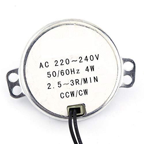Motor Síncrono, 1Pc 220-240V AC 4W Motor Síncrono Engranado Motor CW/CCW, Bajo...
