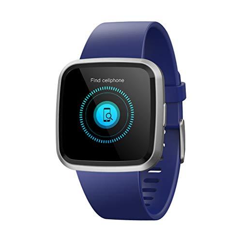 VRTUR Intelligente Uhr, Schwangere Frauen Smartwatch Aktivitäts-Tracker Schlafmonitor Herzfrequen Kompatibel für Android und IOS Blau