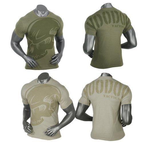 Voodoo Tactical Totenkopf Gedämpfte T-Shirt Gr. XXL, Grün - Coyote Tan