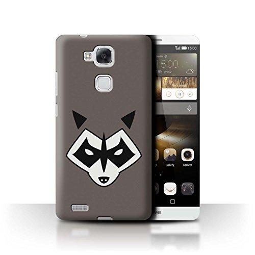 Stuff4® Hülle/Case für Huawei Ascend Mate7 / Rocket Raccoon Inspiriert Muster/Superheld Comic-Kunst Kollektion