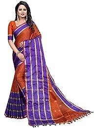 G Stuff FashionWomen Cotton Saree With Blouse Piece